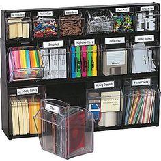 Shop Staples for Deflecto® Tilt Bin™ Multipurpose Storage and Organization System – home office organization ideas