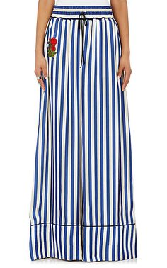Off-White c/o Virgil Abloh Striped Pajama-Style Pants - Trousers - 504892410