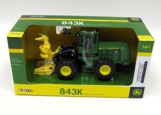 Ertl Collectibles 1:50 John Deere 843K Wheeled Feller Buncher by Ertl Collectibles. Save 3 Off!. $29.24. Cab tilts to reveal engine. Soft plastic tires. Die cast body. Front feller head raises, lowers and functions like the real thing. Age 14+ years. From the Manufacturer                1/50 scale die cast metal and plastic replica of the JD 843K wheeled feller buncher. The front feller head raises, lowers and functions like the real thing.                                    Product…