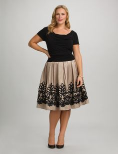 Plus Size | Dresses | Special Occasion Dresses | Plus Size Ruched Two-Tone Dress | dressbarn
