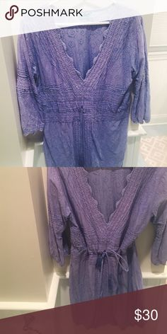 Letarte Periwinkle Tunic Super cute tunic can be worn as a cover up, dress, or with white jeans! Letarte Dresses Long Sleeve