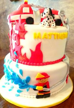 Little Fireman Birthday Cake Little Man Birthday, Birthday Stuff, Third Birthday, Baby Birthday, Birthday Ideas, Birthday Cake, Firefighter Cakes, Fireman Cake, Fireman Party