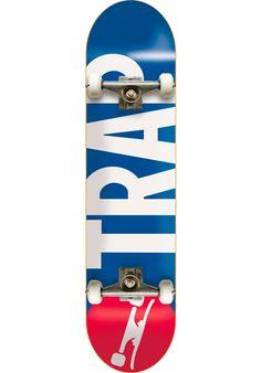 Trap Big-Logo, Skateboard-Complete, blue-red Titus Titus Skateshop #SkateboardComplete #Skateboard #titus #titusskateshop