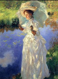 "Fine Art  11x17 Print /""Morning Walk/"" by John Singer Sargent"
