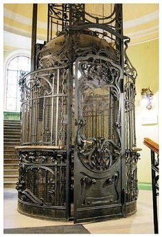 Steampunk Elevator in London Check us out on FB-Unique Intuitions #uniqueintuitions #steampunk #elevator