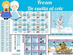{ kit de vuelta al cole} de Frozen (horario escolar - stickers para personalizar lápices - tarjetas personales - etiquetas para cuaderno - stickers multiuso) ✪ http://www.wonkistienda.com.ar/frozen-de-vuelta-al-cole.html