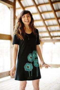 HOLIDAY SALE tshirt dress black dress black cotton от Flytrap