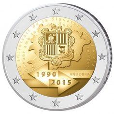 """Andorra 2 Euro-Entwurf Anlass """"25. Jahrestag der Zollunion mit der EU"""""""