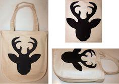 Torba na zakupy NATURAL BAGS - BLACK DEER w HANAKO na DaWanda.com