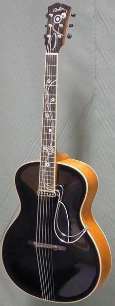 Grellier Guitars  Kozmic Blues Archtop Guitar --- https://www.pinterest.com/lardyfatboy/