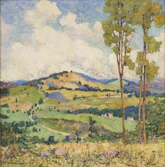 Houghton Cranford Smith. Vermont Landscape, 1916, oil on canvas, 22 x 22 inches. / David Findlay Jr Gallery