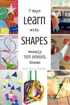 Best Toys 4 Toddlers - 7 days of learning activities with shapes, printable planner for tot school