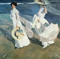 Joaquin Sorolla y Bastida - Walk on the Beach (71,1 x 91,4 cm)