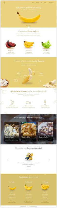 Banana Landing page: Creative exercise — Nirav's Portfolio — Medium