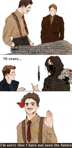 HYDRA's not gonna come at you with a pocket knife... << I thought of this when I saw the movie! Cool! XD