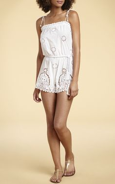 Peggy Belted Romper by MIGUELINA for Preorder on Moda Operandi