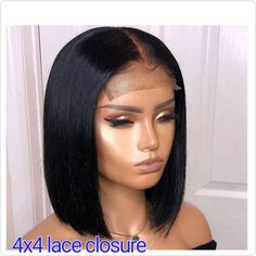 Top quality human hair short Bob cut wigs hair frontal lace front glueless full lace wig for black women pixie cut hair curly lace closure Remy Human Hair, Human Hair Wigs, Short Bob Hairstyles, Wig Hairstyles, Silver Wigs, Stylish Short Hair, Short Hair Wigs, Curly Wigs, Curly Short