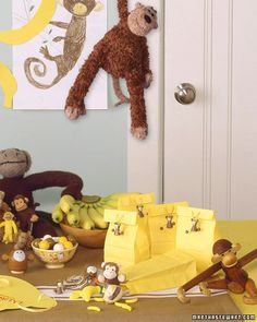 Let the little ones in on the fun! This shower is full of monkey business -- ideal for families with siblings eagerly waiting their kid sister or brother. Kid-friendly food and decor make it a festive time for everyone.