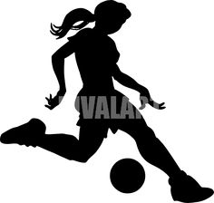 Lady soccer silhouette