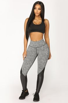 Half Mile Active Leggings - Grey/Black