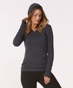 Loving this Heather Black Brisk Tek Hoodie on #zulily! #zulilyfinds
