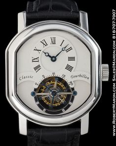 CLASSIC TOURBILLON STAINLESS STEEL DOUBLE ELLIPSE CASE :: All...