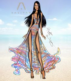 Hayden Williams Fashion Illustrations: Aaliyah 13th Anniversary pt3 by Hayden Williams