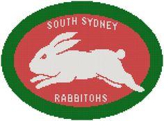 I'm selling South Sydney Rabbitohs cross stitch - A$3.30 #onselz