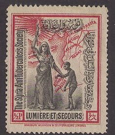 Syria: Anti TB seal 1926? Syria Anti-Tuberculosis Society ng - bidStart (item 43249082 in Stamps... Syria)