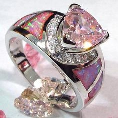 sz 6,7,8,9 lab pink topaz and fire opal. Starting at $7 on Tophatter.com!
