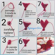 265 Likes, 4 Comments – igne oyasi hobim.fular) on Insta … - Дизайн дома Handmade Beaded Jewelry, Beaded Jewelry Patterns, Beading Patterns, Crochet Patterns, Needle Tatting, Needle Lace, Hand Embroidery Dress, Embroidery Stitches, Filet Crochet