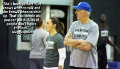 Spurs Coach Gregg Popovich on Spurs Assistant Coach Becky Hammon