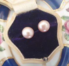 Pink Pearl Earrings, Gifts For Nan, Bridal Jewellery, Handmade Jewellery, Silver Jewellery, Pearl Jewelry, Gem Shop, Real Pearls, Pearl Gemstone
