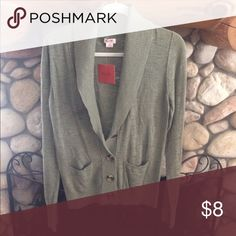 🌷 NEW SAGE GREEN CARDIGAN SWEATER SHAWL NECK WITH TWO SMALL FRONT POCKETS Mossimo Supply Co Sweaters Cardigans