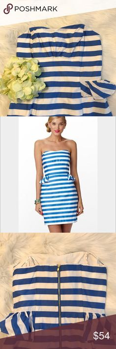 Lilly Pulitzer Maybell Peplum Stripe Dress Worn once Lilly Pulitzer Maybell dress! Lilly Pulitzer Dresses