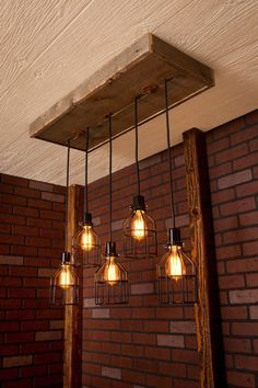 Industrial lighting Industrial Chandelier door Bornagainwoodworks