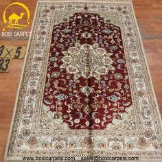 Hand knotted silk rug # Rug No.: P4211# Quality: 150L (156kpsi) # Size: 3x5ft (91x152cm) # Material: 100% Silk # wholesale Price: $240/piece # If you have any interests, please email to sales@bosicarpets.com        Hand-madecarpet#orienatlrug#oldrug#Kashmirrug#Chinacarpet#Iraniancarpet#boteh#HeratiGul# Isfahan#Tabriz#Qum#Nain#Kashan#Kerman#Bijar#Sarouk#Caucasian#antiquecarpet#bosicarpet