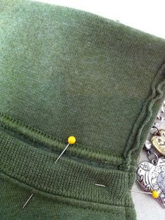 Buttons, Bows & Bling: Sweatshirt To Jacket - Tutorial