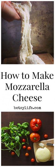 How to make homemade mozzarella cheese.
