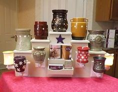 DIRECTOR Display Stand FOR & COMPATIBLE w/Scentsy PartyLite, Plug-in warmer,tart