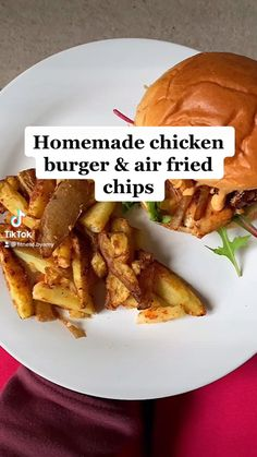 Healthy High Protein Meals, High Protein Recipes, Protein Foods, Healthy Chicken Recipes, Low Calorie Dinners, Low Calorie Diet, Low Calorie Recipes, Homemade Chicken Burgers, Fried Chips