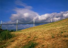 The Millau Viaduct by Foster + Partners, a colossal bridge that spans a gorge in southern France.