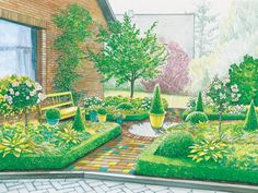 Creative Landscape, Landscape Sketch, Landscape Plans, Landscape Architecture, Garden Yard Ideas, Garden Landscaping, Clematis, Nature Journal, Outdoor Furniture Sets