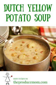 Easy and healthy potato soup recipe with Yukon gold potatoes. Grab a big spoon – this soup is hearty!