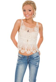 Odelia Lace Crop Top