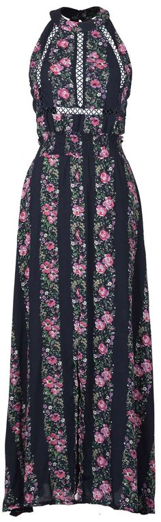 Only $21.99 !Free shipping & Easy Returns+Refund! This hollow maxi dress with floral printing& open back is so gorgeous and chic.So hurry and get this in you wardrobe Cupshe.com !