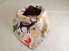 Forest Animals Bandana Bib/Woodland Animals/Baby Bandana Bib/Deer/ Fox/Squirrels/ Baby Bib/Woodsy Fabric by OccasionalGoods on Etsy