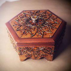 Copper And Rhinestone Jewelry Box