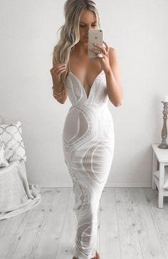 lace dress sexy deep v dress