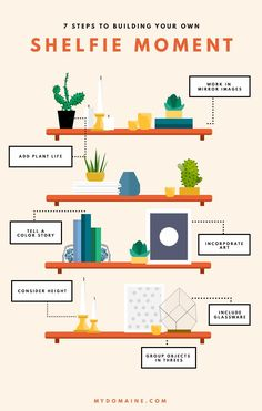 How to Create the Ultimate Shelfie Moment With Etsy Pieces Check out the great . - How to Create the Ultimate Shelfie Moment With Etsy Pieces Check out the great Etsy vinatge vases - Interior Design Tips, Interior Styling, Design Design, Decorating Tips, Interior Decorating, Decorating With Vases, Bookshelf Styling, Decorating Bookshelves, Shelfie